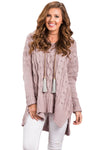 Women's Sweaters Oversized Cozy up V Neck Cut-out Knit Pullover Sweaters