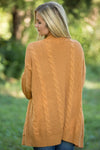 Women's Cardigans Knit Texture Long Cardigan