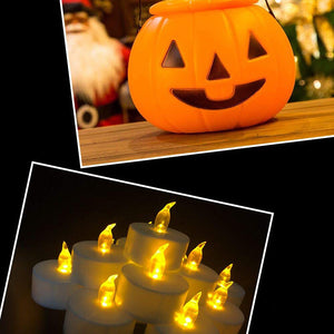 CLEARANCE PRICE-21.86 LAST DAY-12 Pack Flameless LED Tea Lights Candles