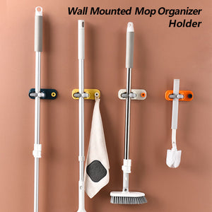Last Day Buy 1 Get 1 Free - Multifunctional Wall Mounted Mop Organizer Holder