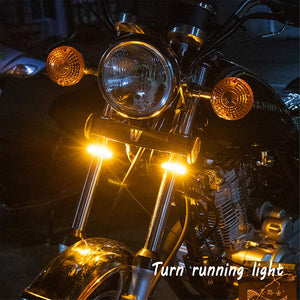 Motorcycle Fork LED Turn Signal Strip Lights 4 PCS