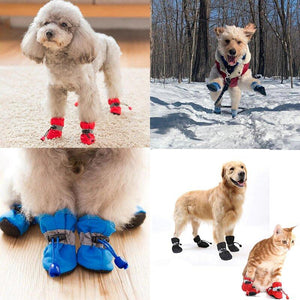 Clearance Price-21.89-Anti-Slip Dog Shoes(4 pcs a set)
