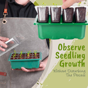 Mini Greenhouse Seed Starter Tray With Free Peat Pellets