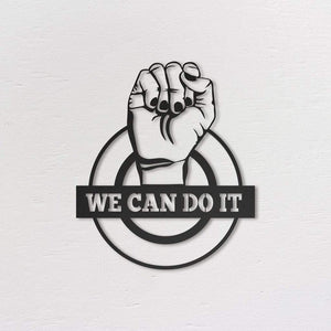 We Can Do It - Metal Vægdekoration-Nordic Unique