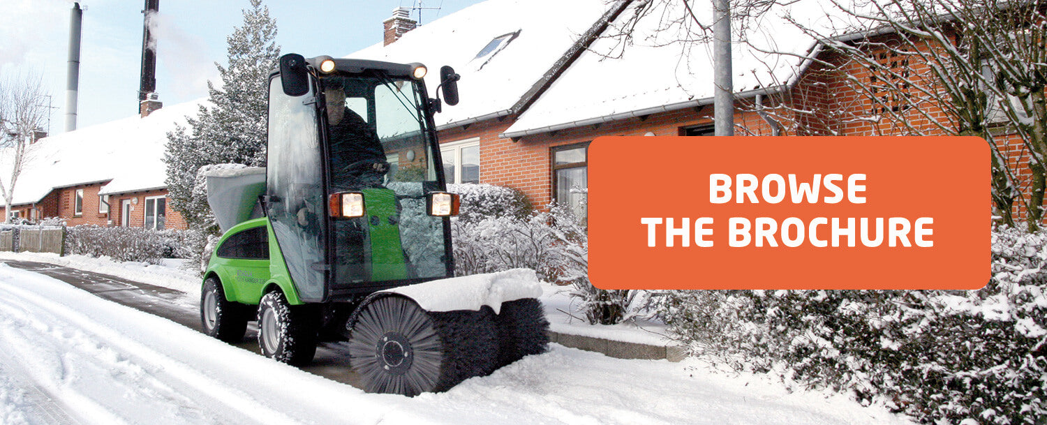Ruck Engineering | Egholm Park Ranger 2150 with Snow Sweeper and Salt Spreader attachments