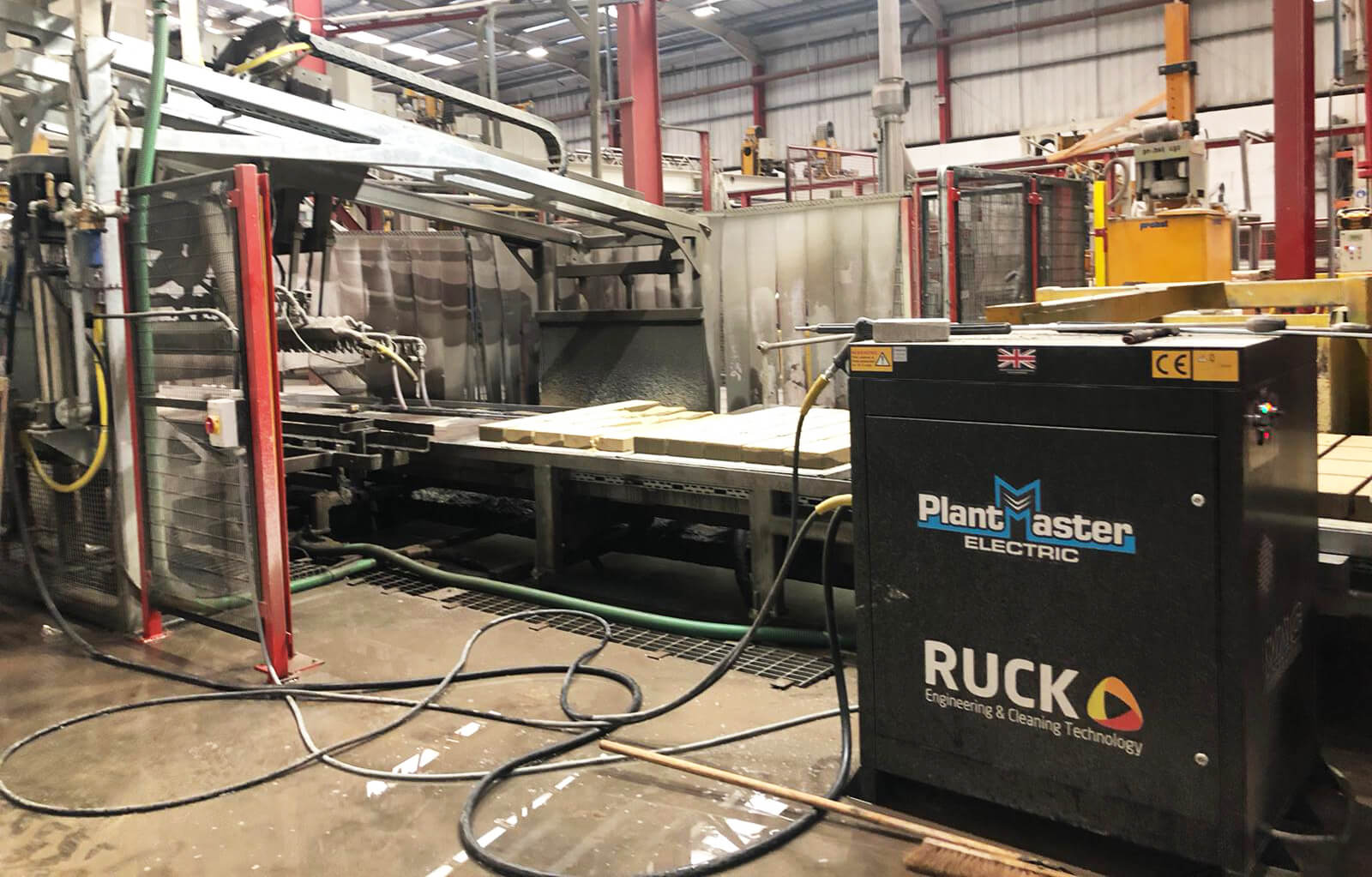 Ruck Engineering - Suppliers of hot and cold and electrically heated pressure washers, industrial floor sweepers and pedestrian and ride-on industrial floor scrubber driers.