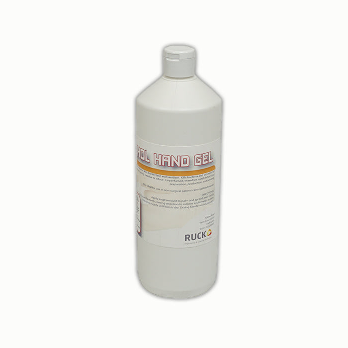 70% HAND SANITISER GEL - 12 x 1LT - Ruck Engineering