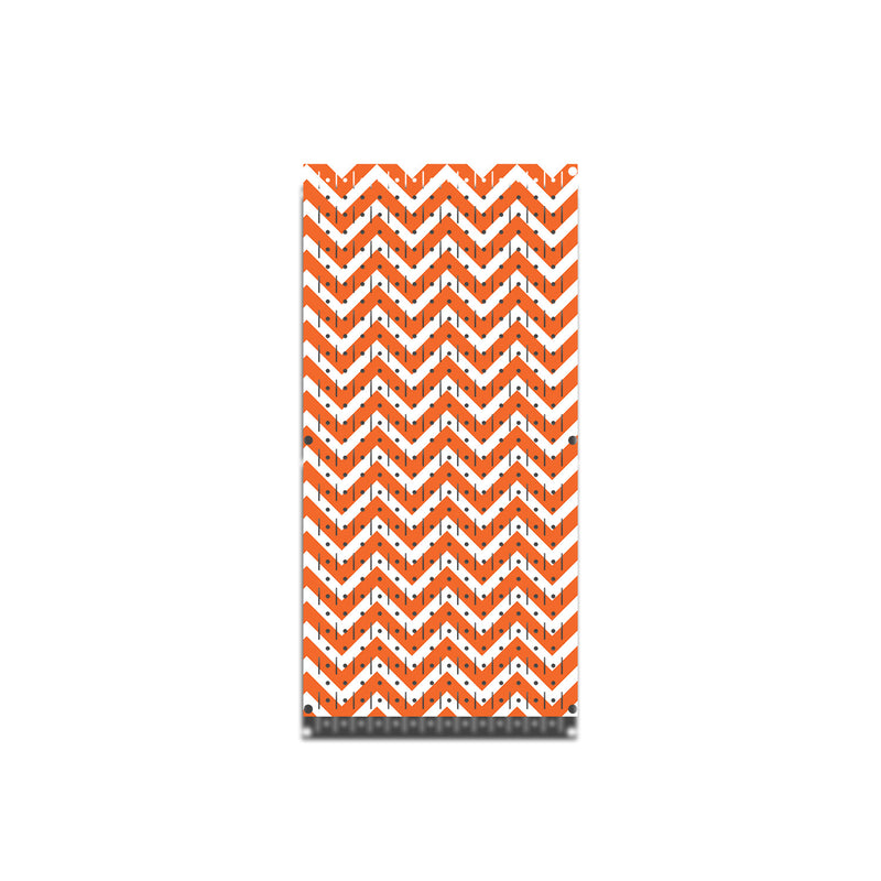 "HWC11026C - Chevron Orange & White (1) Panel | 16"" x 32""(tall) 