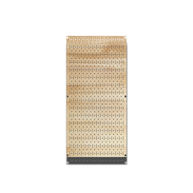 HWC11044 | Plain Wood | Printed Wall Control Pegboard by HangTime