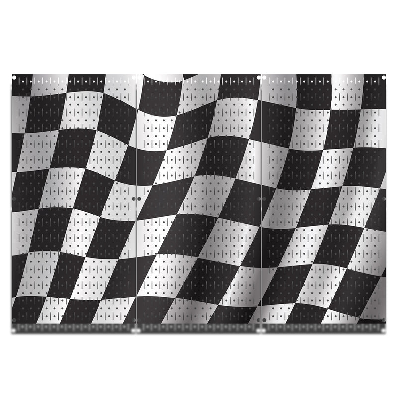 HWC13024 | Racing Flags | Printed Wall Control Pegboard by HangTime®