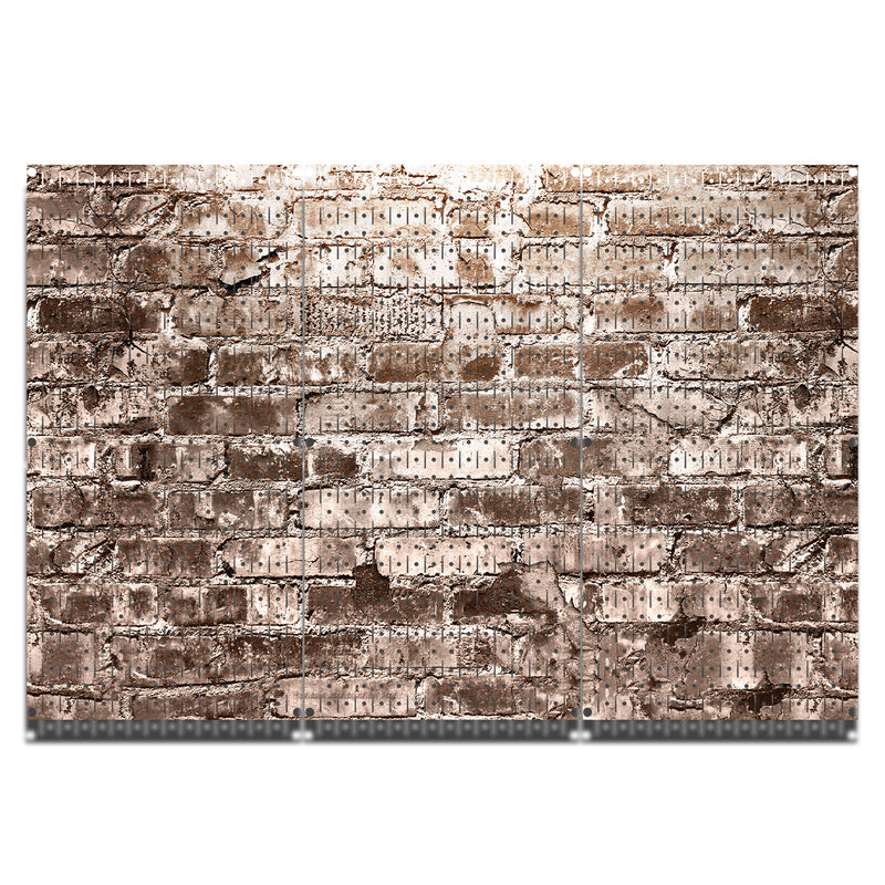 HWC13028 - Distressed Brick Mono | Printed Wall Control Pegboard by HangTime®