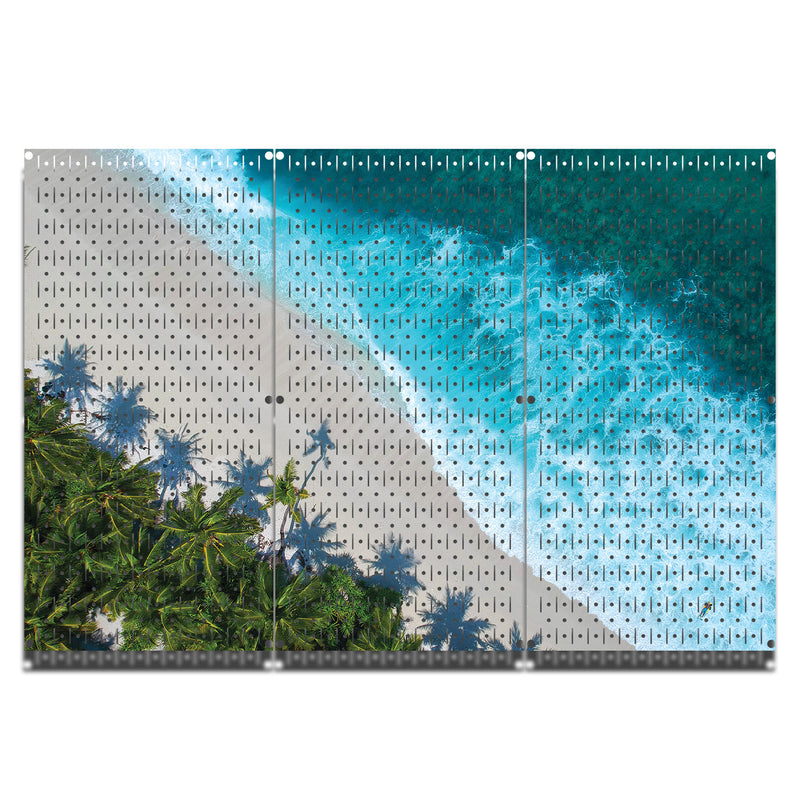 HWC13033 | The Beach | Printed Wall Control Pegboard by HangTime®