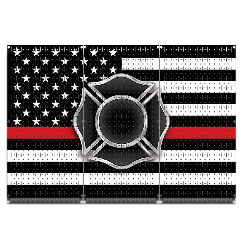 HWC13037 | Firefighter | Printed Wall Control Pegboard by HangTime®
