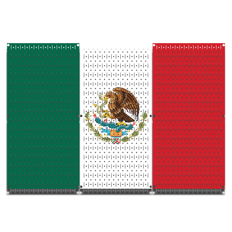 HWC13046 | Mexico Flag | Printed Wall Control Pegboard by HangTime®