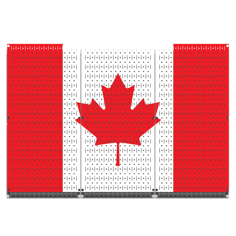 HWC13047 | Canada Flag | Printed Wall Control Pegboard by HangTime®