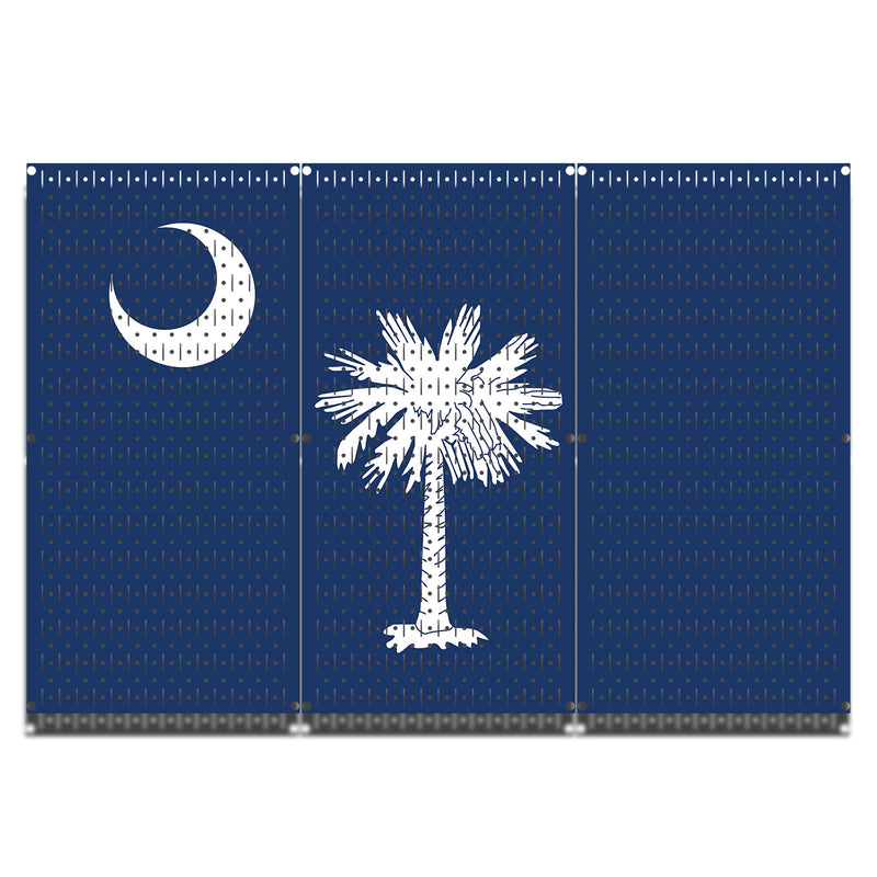 HWC13051 | South Carolina Flag | Printed Wall Control Pegboards by HangTime®