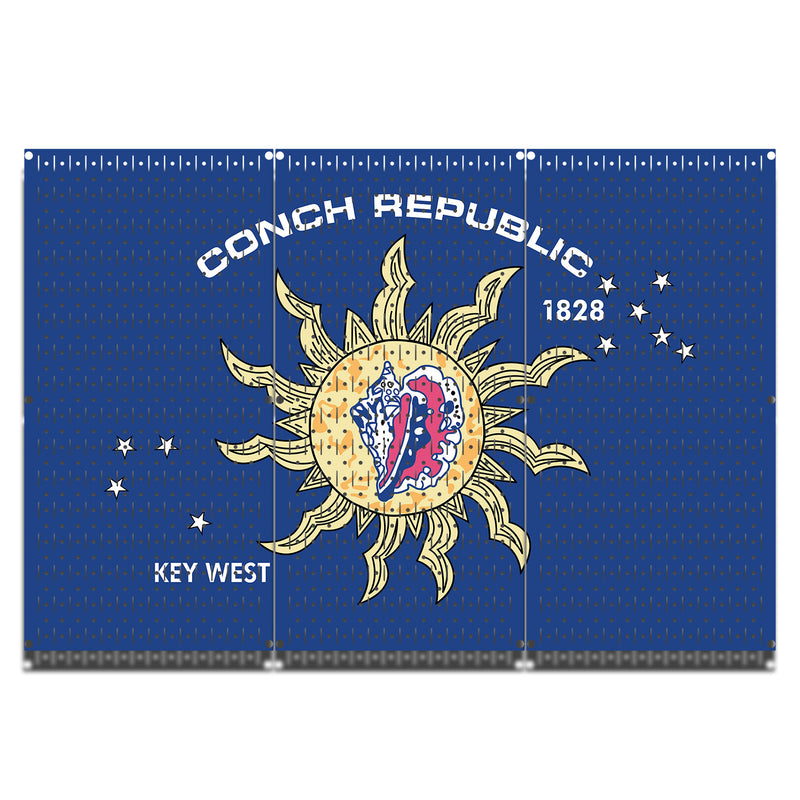 HWC13057 | Conch Republic | Printed Wall Control Pegboards by HangTime®