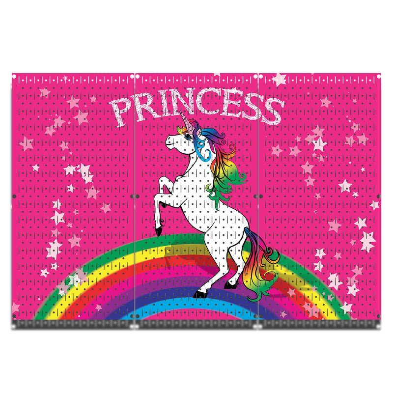HWC13059 - Princess Unicorn | Printed Wall Control Pegboards by HangTime®