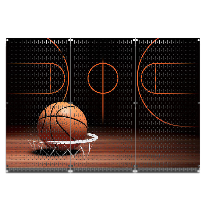 HWC13060 - Basketball | Printed Wall Control Pegboards by HangTime®