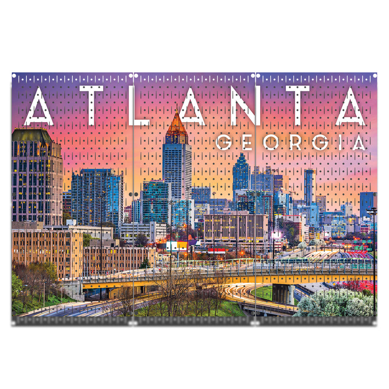 HWC13079 | ATLANTA  Cityscape | Printed Pegboard by HangTime®