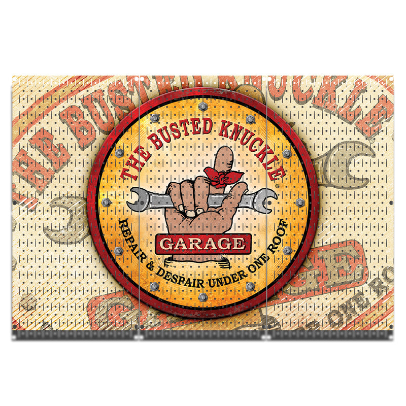 "HWC13087 - Busted Knuckle Garage (3 Panels) | 48"" x 32"" (tall) 