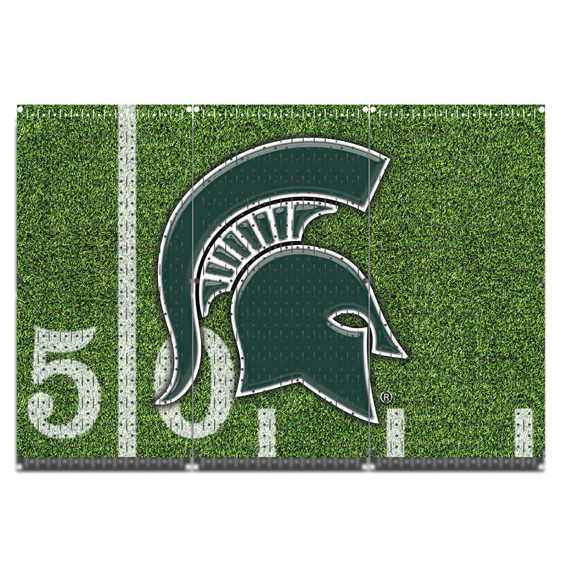 "HWC13091 - Michigan State Football | Spartans  | (3 Panels) | 48"" x 32"" (tall) 