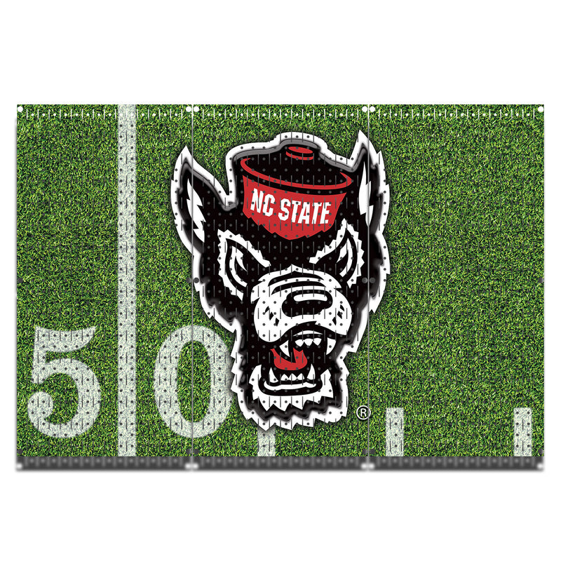 "HWC13096 - North Carolina Wolfpack (3 Panels) | 48"" x 32"" (tall) 