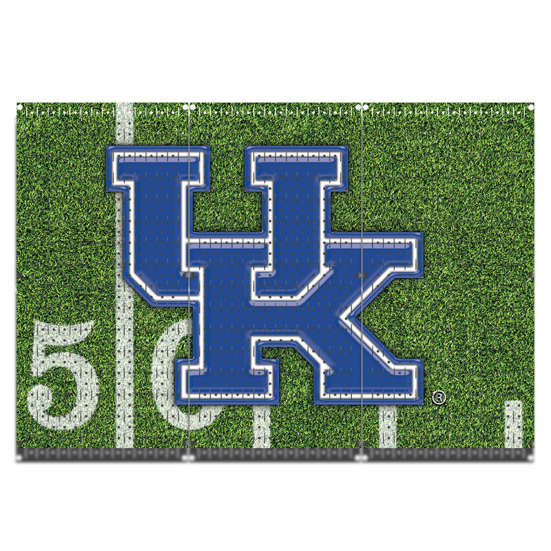 "HWC13097 - Kentucky Wildcats Football  | (3 Panels) | 48"" x 32"" (tall) 