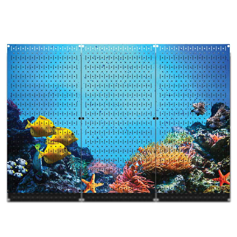 "HWC13105 Coral Under The Sea (3 Panels) | 48"" x 32"" (tall) 