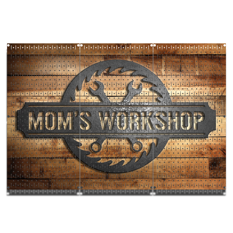 "HWC13123 Mom's Workshop (3 Panels) | 48"" x 32"" (tall) 