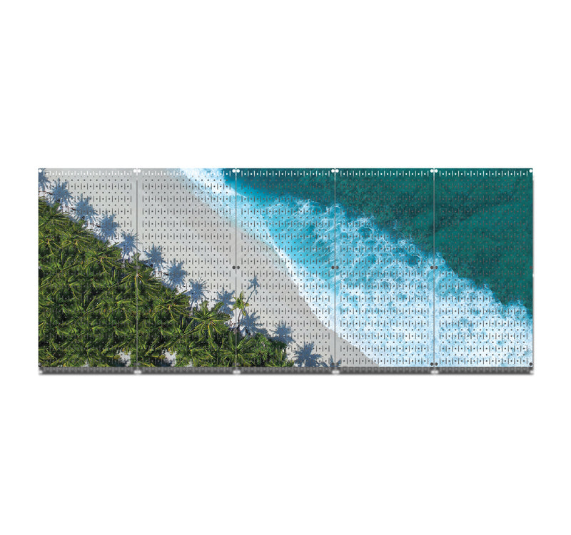 HWC15033 | Beach | Printed Wall Control Pegboard by HangTime®