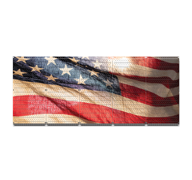 HWC15035 | American Waving Flag | Printed Wall Control Pegboard by HangTime®
