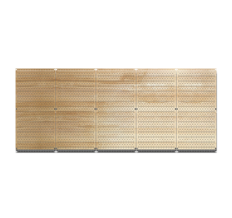 HWC15044 | Plain Wood | Printed Wall Control Pegboard by HangTime®