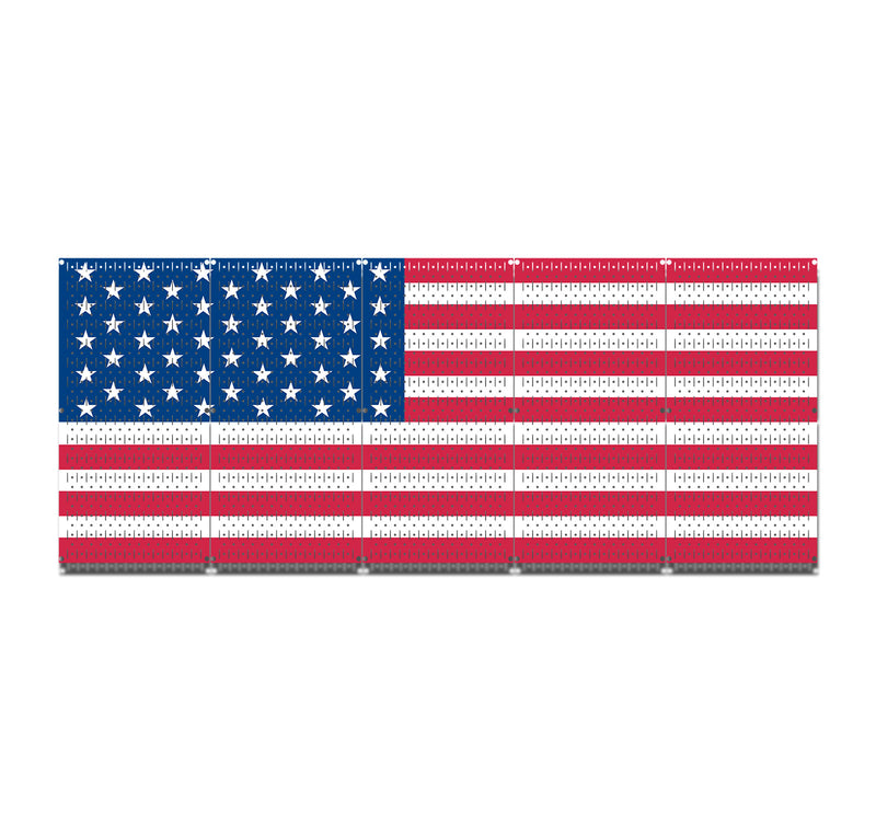 HWC15045 | USA FLAG | Printed Pegboards by HangTime®