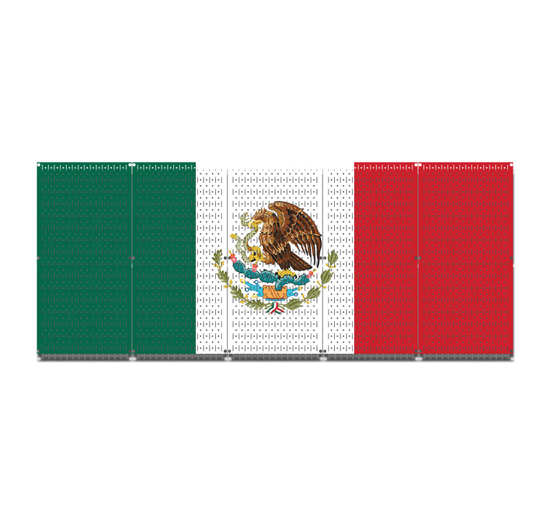 "HWC15046 - Mexico Flag (5 Panels) | 80"" x 32"" (tall) 