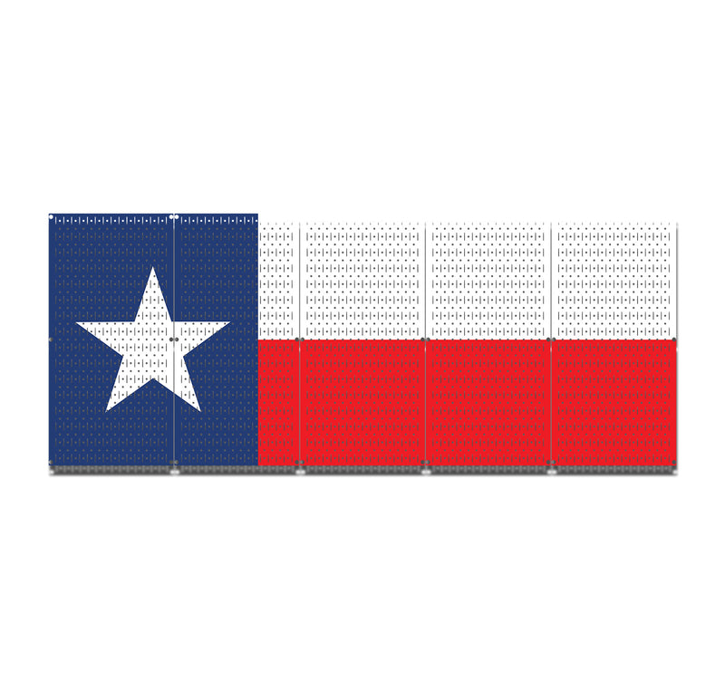 HWC15049 | Texas Flag | Printed Pegboard by HangTime®