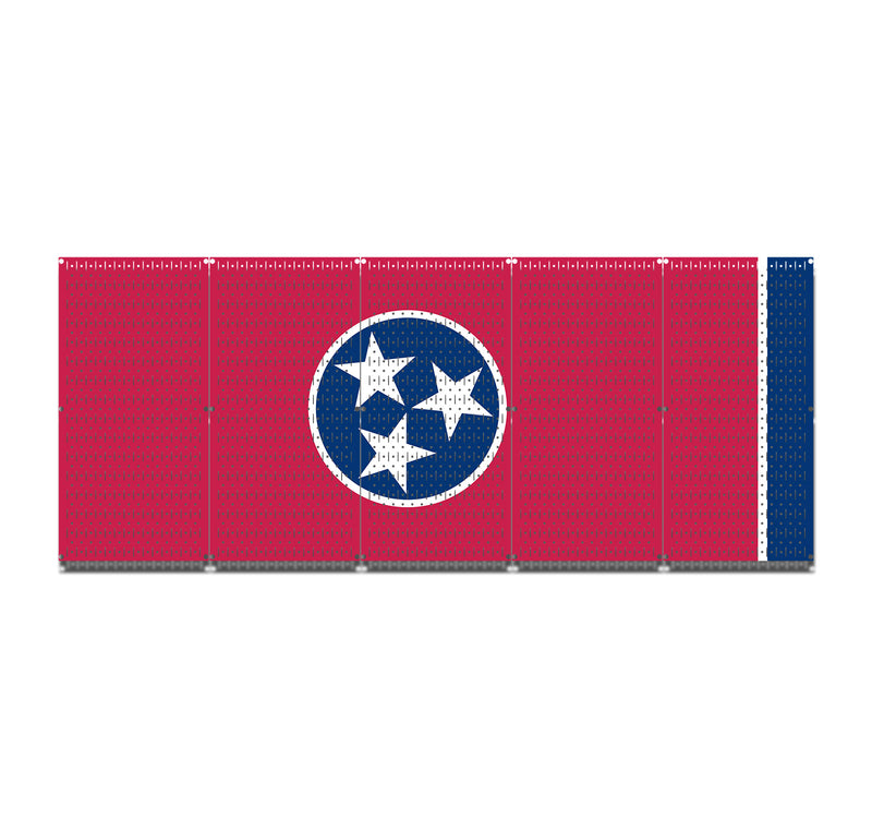 "HWC15050 - Tennessee Flag (5 Panels) | 80"" x 32"" (tall) 