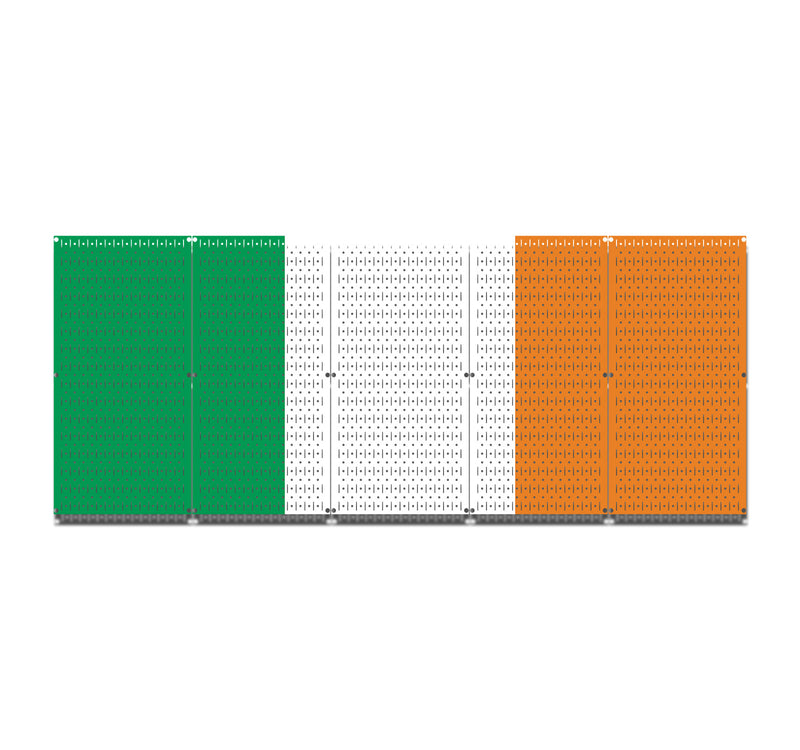 HWC15055 - Ireland Flag | Printed Pegboard by HangTime®