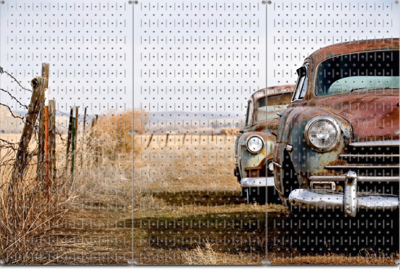 "HWC13116 Old Car (3 Panels) | 48"" x 32"" (tall) 