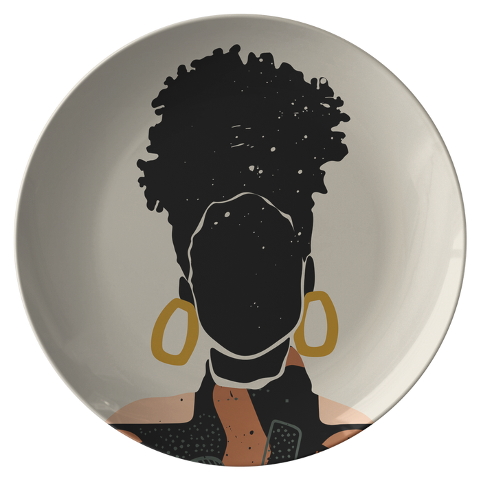 """Black Hair No. 15"" Plate"