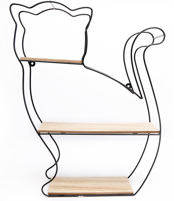 Wire Cat Wall Shelf