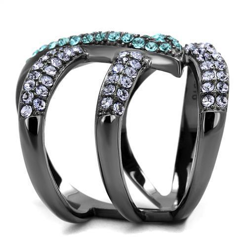 Stainless Steel Rhinestone Ring