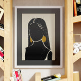 """Black Hair No. 3"" Print"
