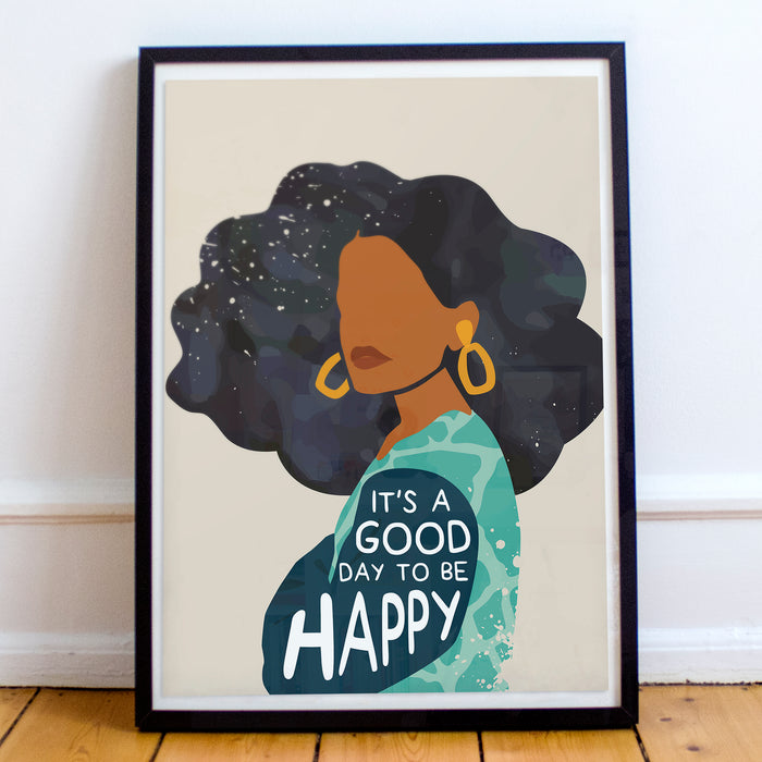 """Be Happy"" Print"
