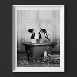 """Cow in the Tub"" Print"