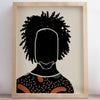 """Black Hair No. 9"" Print"