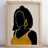 """Black Hair No. 11"" Print"