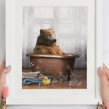 """Bear in the Tub"" Print"