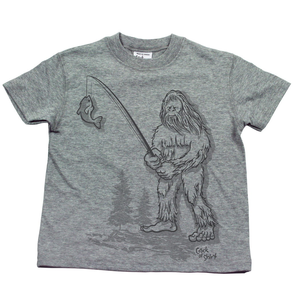 Sasquatch Fish! Kids T Shirt