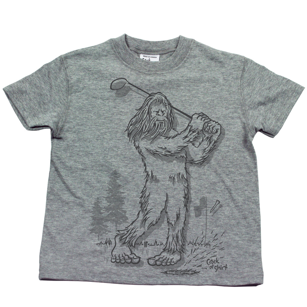 Sasquatch Golf! Kids T Shirt